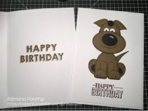 'Happy Birthday' from Party Wishes and Big Day (retired) stamp sets